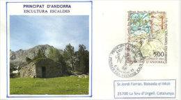 ANDORRE.Paysage Des Escaldes (Borda) Maison Traditionnelle De Haute Montagne, Sur Lettre Adressée En Catalogne - Andorre Français