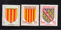 France 1955 Coat Of Arms 3v MNH - Frankrijk