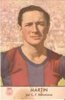 CROMO ANTIGUO DEL AÑO 1953 DE MARTIN JUGADOR DEL F.C. BARCELONA (CHAMPAÑA CASTELLBLANCH) (BARÇA) - Cromos