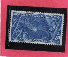 ITALIA REGNO ITALY KINGDOM 1932 DECENNALE MARCIA SU ROMA DECENNIAL MARCH ON ROME LIRE 1,25 USATO USED - 1900-44 Victor Emmanuel III