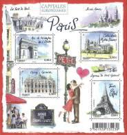 """La Feuille F4514 """"CAPITALES EUROPEENNES. PARIS"""" Luxe Bas Prix, A SAISIR. - Feuilles Complètes"""