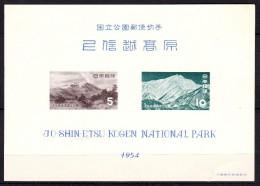 Japon 1954 N°Y.T. :   BL 40 (déchirure) ** - Blocks & Sheetlets