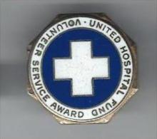Insigne / United Hospital Found /Volonteer Service Award/ New-York/USA/Vers 1900     D484 - Etats-Unis