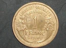 1 Franc Type Morlon Bronze-Aluminium 1940 - France