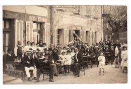 Carte Photo (83) LA GARDE FREINET : La Fête Au Village (?), En 1909 - Other Municipalities