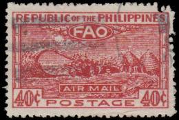 Philippines Scott #C 67, 40¢ Dark Carmine & Pink (1948) FAO Type, Used - Philippines