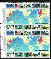 USA 1992 1942 WW II - BloCk 2  Of 20 X29c MNH SC SH-2697-2706 YV BF-2099-2108 MI B31-2302-11 SG MS2730-39 - Hojas Completas
