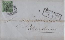 Baden Brief EF Minr.6 Mannheim - Baden
