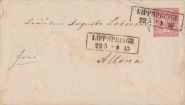 NDP GS-Umschlag 1 Gr. Nachv. St. Lippspringe 22.5. - Norddeutscher Postbezirk