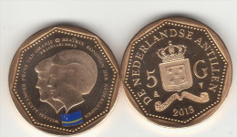 CURACAO, 5 Gulden 2013 (colored Flag) Mintage 10ooo Pcs. - Netherland Antilles
