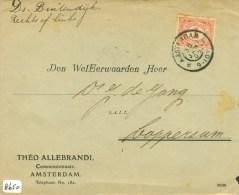 BRIEFOMSLAG Uit 1905 Van AMSTERDAM Naar DOMINEE DE JONG TE LOPPERSUM * NVPH 51 (8650) - Periode 1891-1948 (Wilhelmina)