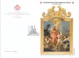 SMOM 2013 BATTESIMO DI GESU' - BAGNAIA CHIESA DI SAN GIOVANNI BATTISTA - FDC BF - Sovrano Militare Ordine Di Malta