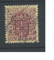 1910 USED Dienst, Sweden, Sverige, Schweden, Gestempeld - Dienstzegels