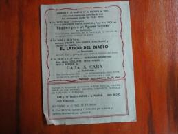 MAR DEL PLATA REPUBLICA ARGENTINA 8 PROGRAMAS DE CINE DIFERENTES CINEMA FILM FILMS PELICULAS FILMES  TEATRO THEATRE THEA - Programs