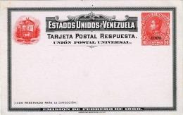 VENEZUELA 1897? - 10 Centimos Ganzsache Auf Pk ** Überdruck 1900 - Venezuela