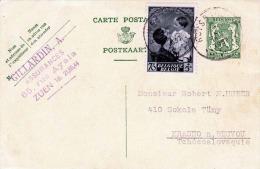 BELGIEN 1937 - 35 C Ganzsache Mit 70+5C Sondermarke Von Zuen > Krasno - Belgien