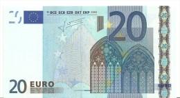 Netherlands Letter P EUR 20 Printercode G010 Trichet - EURO