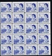 1967  Centennial Issue 5¢ Complete Mini Pane Of 20  Unitrade 458b ** MNH - 1952-.... Règne D'Elizabeth II