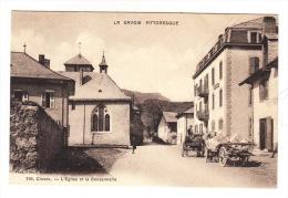 CPA (74) CLUSES : L'Eglise Et La Gendarmerie - - Cluses