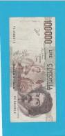 ITALIA -  BANCONOTA LIRE 100.000 BERNINI 1° TIPO SERIE C - [ 2] 1946-… : Repubblica