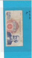 ITALIA -  BANCONOTA DA  LIRE 1000 VERDI 1° TIPO 14 Gennaio1964  R2 MOLTO RARA - [ 2] 1946-… : Républic