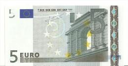 Spain Letter V EUR 5 Printercode M004 Trichet UNC - EURO