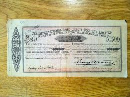 Action The International Land Credit Company Limited 1864 - Actions & Titres
