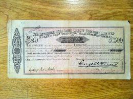 Action The International Land Credit Company Limited 1864 - Azioni & Titoli