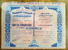 SA Tramways Libanais - Aandelen