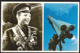 "Carte Photo Bahx CCCP, Musée Du Cosmos, Fusée ""Vostok"", Youri Gagarine, Cosmonaute - Russia"