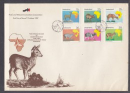 Zimbabwe:1987 Pan African Decade Of Duiker Research,  First Day Cover - Zimbabwe (1980-...)