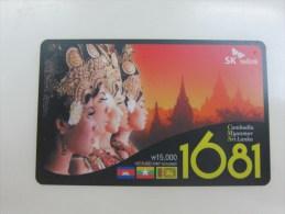 Prepaid Phonecard, Beauties,call To Cambodia,Myanmar,Sri Lanka,mint But Invalided - Korea (Zuid)