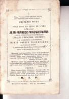 MoLENBEEK-SAINT-JEAN Jean-François WAUVERMANS 1804-1872 Veuf COUSINE Et VOORDECKER Doodsprentje - Obituary Notices