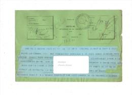 Dépêche  Guerre De 1870-1871 - Cachet Lignes Télégraphiques Nantes - LALLEMAND Général CLERET  CHANZY - Historische Documenten
