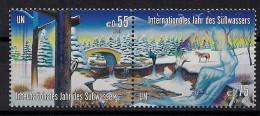 2003 UNO Wien Mi. 393-4**MNH    Internationales Jahr Des Süßwassers - Ungebraucht