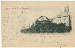 Gruss Aus Drachenfels Hotel Und Ruine  Edit Carl Harmening 1792 P. Used 1898 - Bonn