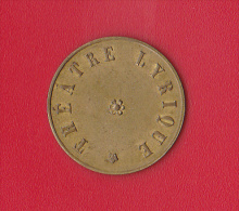 15  (Cts)  *  THEATRE LYRIQUE  (Bruxelles ?) - Monetary / Of Necessity