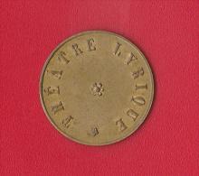 15  (Cts)  *  THEATRE LYRIQUE  (Bruxelles ?) - Monétaires / De Nécessité
