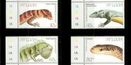 ST. LUCIA 1984 MNH** - Lizards, Snake - Mi 660-3, YT 652-5, Sc 661-4 - Reptiles & Amphibians