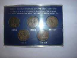 Gran Bretaña Set Monedas 1 Penique 1912 H, 1918 H, 1918 KN, 1919 H Y 1919 KN (5420) - 1902-1971 : Monedas Post-Victorianas
