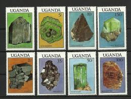 UGANDA 1988 MNH Minerals - Ouganda (1962-...)