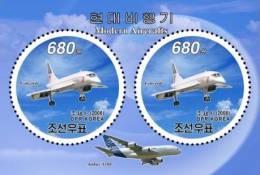 nk4585 DPR Korea 2008 Modern Aircrafts s/s Concorde A380