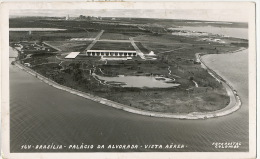 Brasilia 164 Palacio Da Alvorada Vista Aerea Foto Postal Colombo 4 Stamps 1964 To Romania - Brasilia