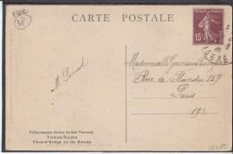 FRANCE Pont En Royans Bridge 1926 Used Postcard Carte Postale #16480 - Covers & Documents
