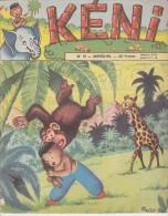 KENI,  N°10, Mensuel 02/1957, Girafe, Singe, Illustrations De TRUCY - Magazines Et Périodiques