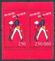 France Philatélie N° 2793 A ** Journée Du Timbre 93 En Paire - Distribution Du Courrier - Facteur - Cyclisme - Tag Der Briefmarke