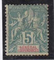 Groupe Légende Sénégal  5c Vert - Oblitérés