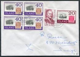 1982 Iceland Reykjavik F Cover - Sweden / Postbus Fishing Boat - 1944-... Republique