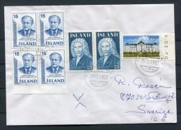 1982 Iceland Reykjavik F Cover - Sweden - 1944-... Republique