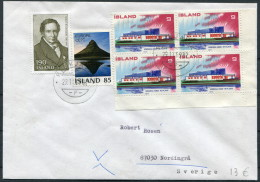 1982 Iceland Reykjavik F Cover - Sweden / Europa Nordic House - 1944-... Repubblica